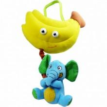 BIBA TOYS Развивающая игрушка СЛОН и БАНАН, 25*20 см  BM658