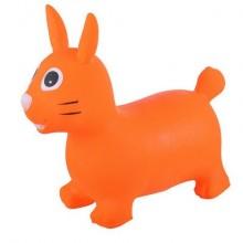 SPRING Прыгуны-животные, ЗАЙКА, PVC, с насосом, 62*30*50см, Оранжевый  22