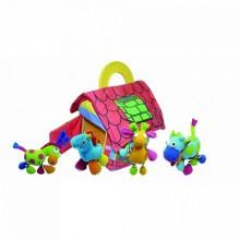 BIBA TOYS Развивающая игрушка-подвеска ФЕРМЕРСКИЙ ДОМ с животными 4шт. 62*46*24 см BS720