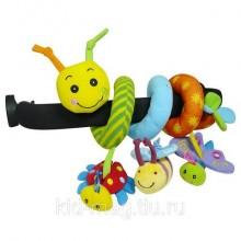 BIBA TOYS Развивающая игрушка спираль ГУСЕНИЦА И ДРУЗЬЯ 39*31*38 см GD074