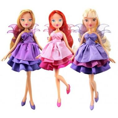 """Winx Club Кукла """"Волшебное платье"""", в ассортименте Флора, Блум, Стелла"""