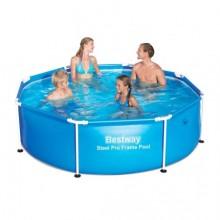 Bestway каркасный бассейн круглый 244 х 61 см
