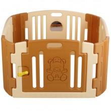 EDU PLAY Детский ограждение-манеж с зеркалом бежевый (116х116х60h)