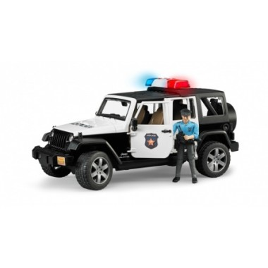 Игрушка Bruder 02-526 Внедорожник Jeep Wrangler Unlimited Rubicon Полиция с фигуркой