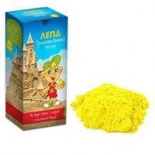 ЛЕПА Трогательный кинетический песок  Желтого цвета 1кг