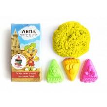 ЛЕПА трогательный кинетический желтый песок + формочки Пирожные