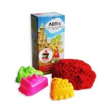 ЛЕПА трогательный кинетический красный песок + формочки Пирожные