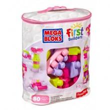 Mega Bloks.Первостроители.80шт.Розовый