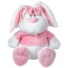 Мягкая игрушка Кролик белый сидячий 71см