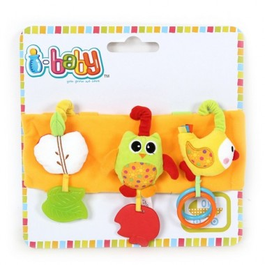 I-BABY Развивающая игрушка подвеска СОВА