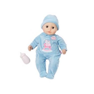 Zapf Creation Baby Annabell 700-549 Бэби Аннабель Кукла-мальчик с бутылочкой, 36 см