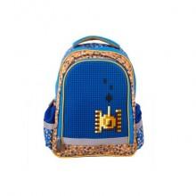 Рюкзак школьный с пикси-дотами (синий) MC-3191-1
