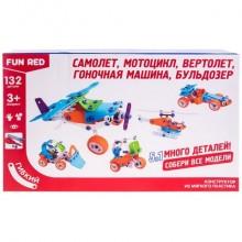 """Конструктор гибкий """"Транспорт 5в1 Fun Red"""", 132 детали FRCF012"""