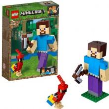 LEGO MINECRAFT Большие фигурки Minecraft, Стив с попугаем 21148