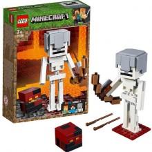 LEGO MINECRAFT Большие фигурки Minecraft, скелет с кубом магмы 21150
