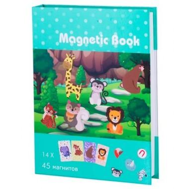 """Magnetic Book TAV034 Развивающая игра """"В зоопарке"""", 59 деталей"""
