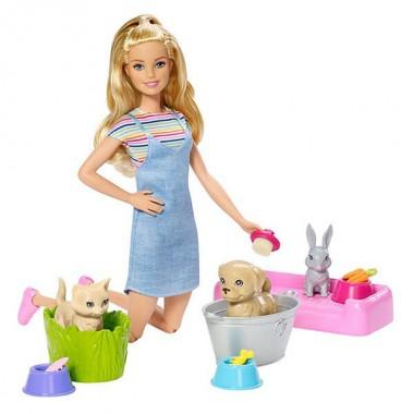 """Barbie FXH11 Барби Игровой набор """"Кукла и домашние питомцы"""""""