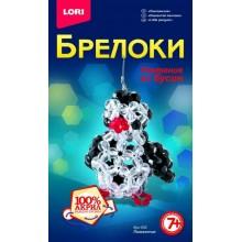"Брелоки Lori Плетение из бусин ""Пингвинчик"" Бус-052"