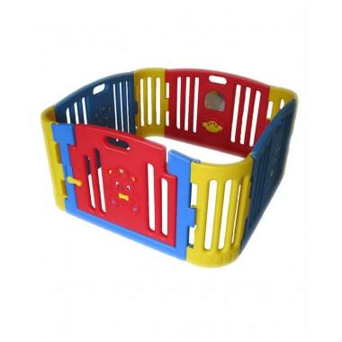 EDU PLAY Детский ограждение-манеж крас./жел.(без шаров) (116х116х60h)