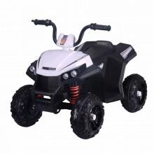 ZHEHUA Электроквадроцикл 6V/4.5Ah*2,40W*2,колеса EVA,MP3.,кож.сид.,амортиз.,86*56*66 см,Белый/WHITE