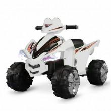 ZHEHUA Электроквадроцикл 12V/7Ah,45W*2,колеса EVA,свет,муз.,кож.сид.,91*66*64 см,Белый/BLACK-WHITE