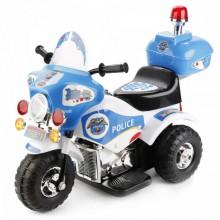 Детский электро мотоцикл Bugati бело-синий