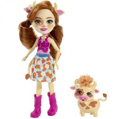 Enchantimals Коровка Кейли Кукла с питомцем FXM77