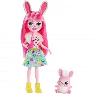 Enchantimals кукла Бри Кроля с любимой зверюшкой, 15 см DVH87/FXM73