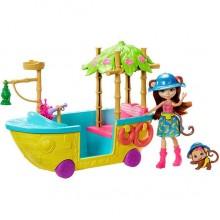 Enchantimals Джунгли-лодка обезьянка Мерит с питомцем GFN58
