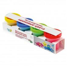 Детский набор для лепки Тесто-пластилин Неоновые цвета Genio Kids