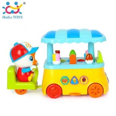Huile Toys 6101 Цветная тележка с мороженным