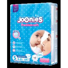 Подгузники Joonies Premium Soft подгузники S 64, 4-8 кг