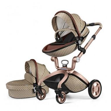 Детская коляска 2в1 Hot Mom F22 эко-кожа Gucci