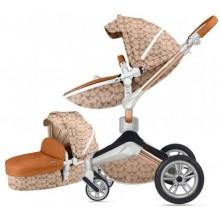 Детская коляска 2в1 Hot Mom 360º F23 Double Cirble, экокожа