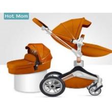 Детская коляска 2в1 Hot Mom 360º F23 BROWN Экокожа