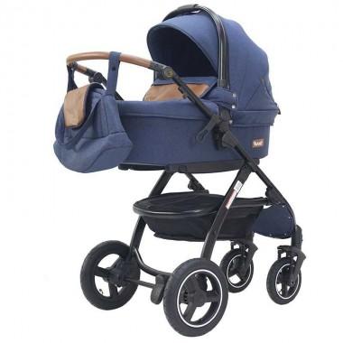 """Детская коляска 2 в 1 Rant """"Alaska"""" (blue jeans), всесезонная коляска зима-лето"""