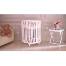 """Кроватка - трансформер Incanto """"Estel ACQUA"""", (белый), с маятником поперечного качания, 10-в-1, на колесиках, овальная, белая  00-92154"""