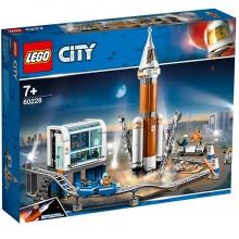LEGO City  Конструктор ЛЕГО Ракета для запуска в далекий космос и пульт управления запуском  60228