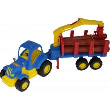 """""""Крепыш"""", трактор с полуприцепом - лесовозом  44815"""
