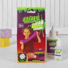 """Набор для изготовления слайма """"Лаборатория"""" Slime, фиолетовый магнитный, 100 гр."""