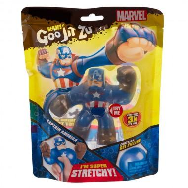 Гуджитсу Капитан-Америка тянущаяся фигурка Goo Jit Zu 38181