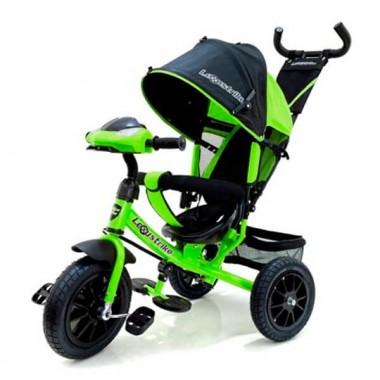 Велосипед 3-кол. Lexus trike светло-зелёный, надувные колёса 12 и 10