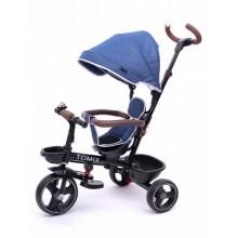 Велосипед 3-х колесный Tomix BEATLE с поворотным сиденьем, темно-синий
