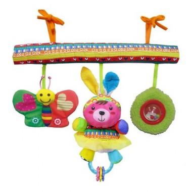 BIBA TOYS Развивающая игрушка подвесная на кроватку СЧАСТЛИВЫЕ ЖИВОТНЫЕ